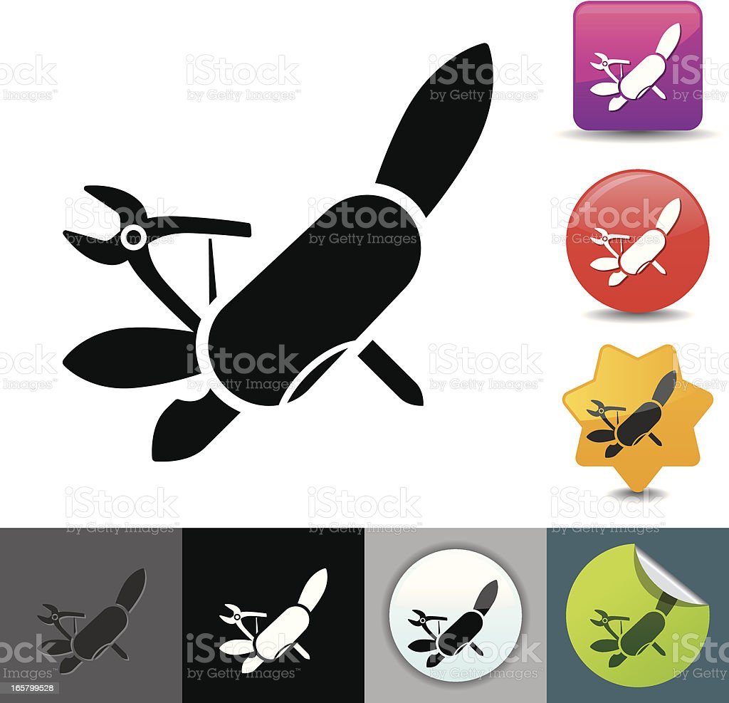 Pocketknife icon | solicosi series royalty-free stock vector art