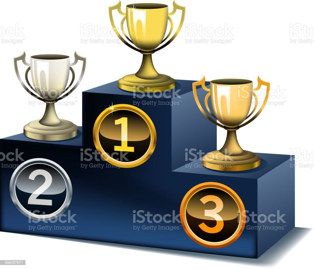 podium on cups royalty-free stock vector art
