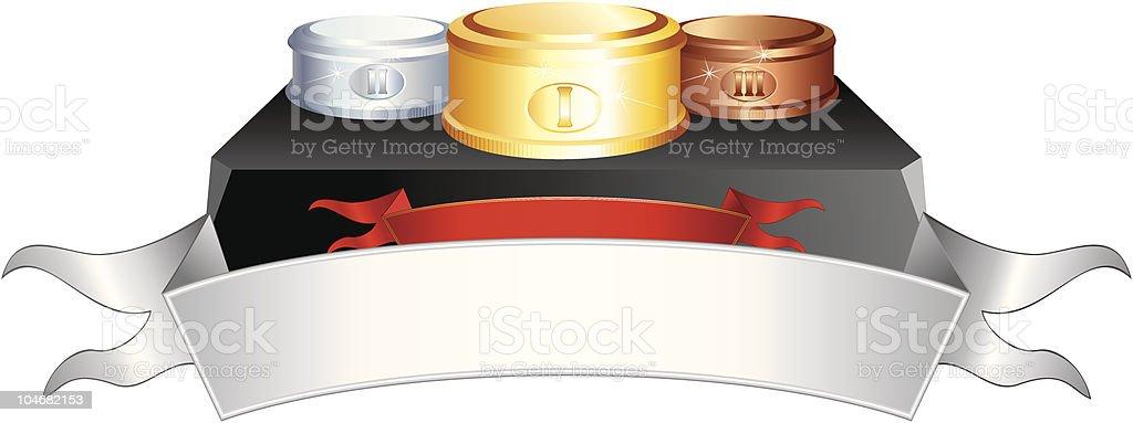 Podium royalty-free stock vector art