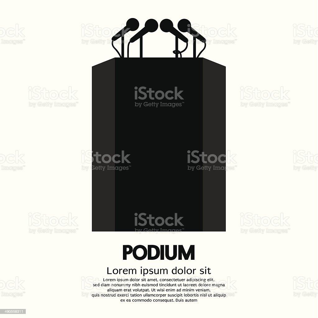 Podium vector art illustration