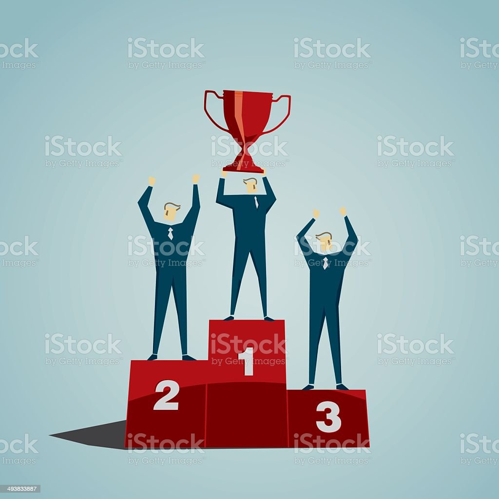Podium vector art illustration