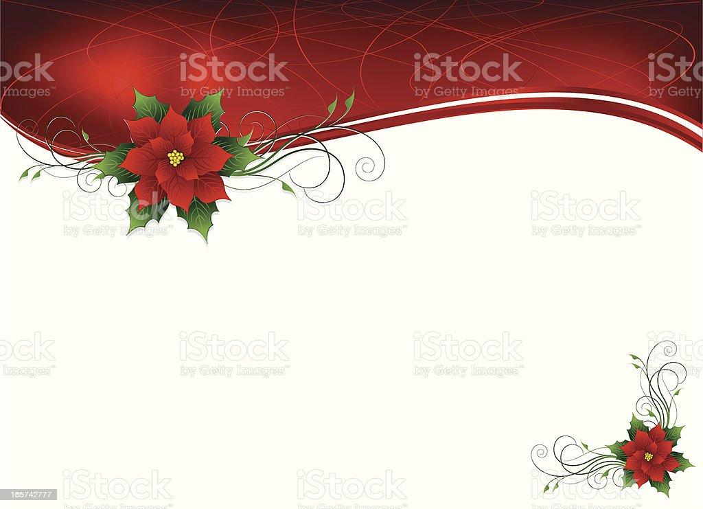Poinsettia Background vector art illustration