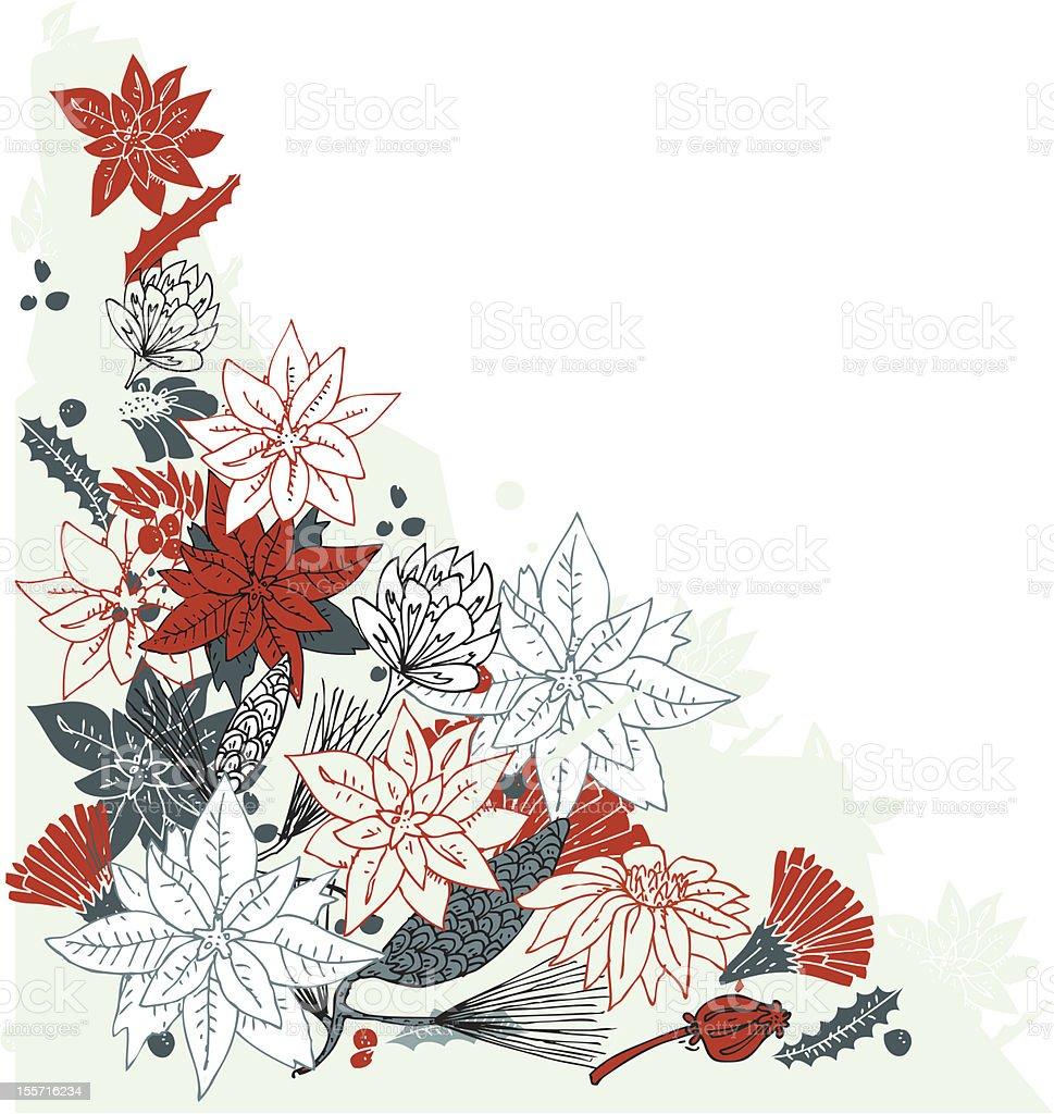 Poinsettia bouquet royalty-free stock vector art