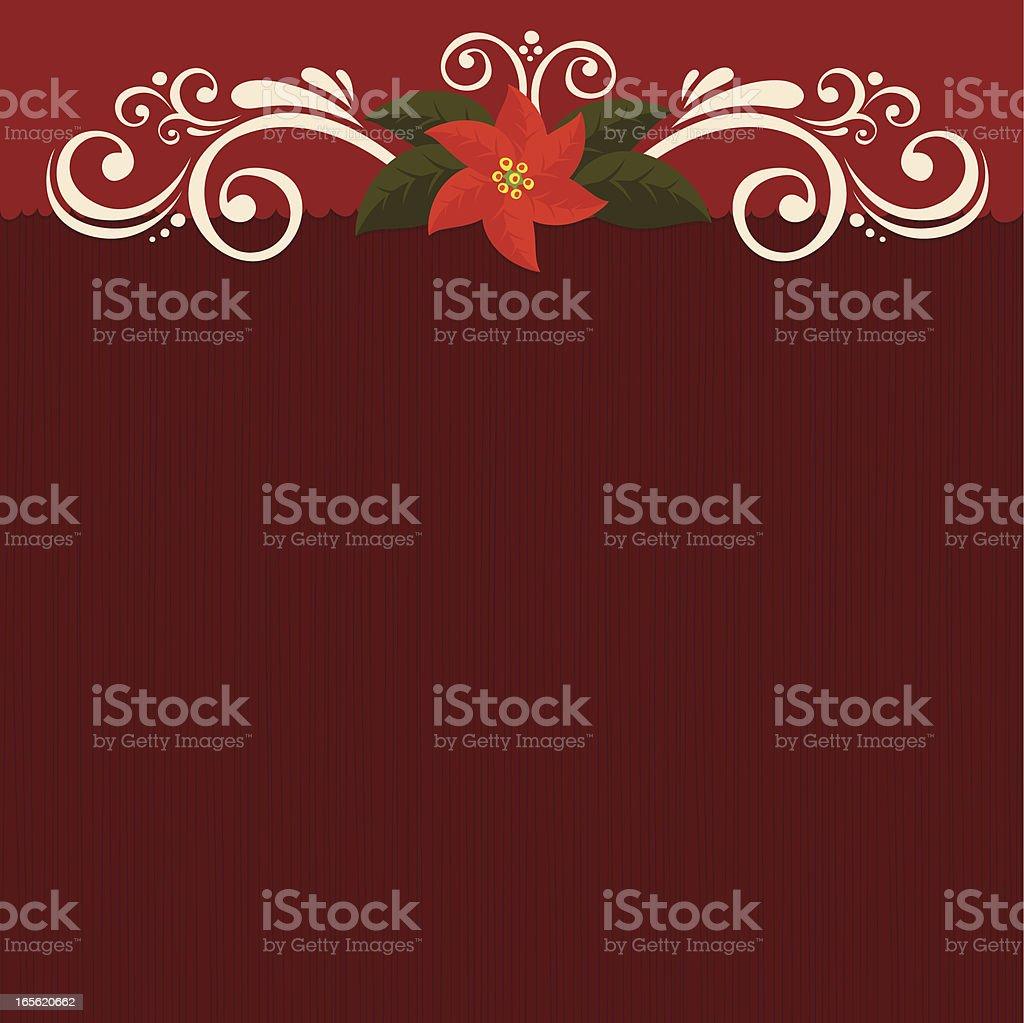 Poinsettia burgundy background royalty-free stock vector art