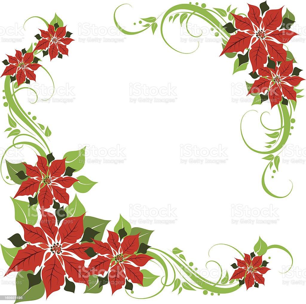 poinsettia floral design royalty-free stock vector art