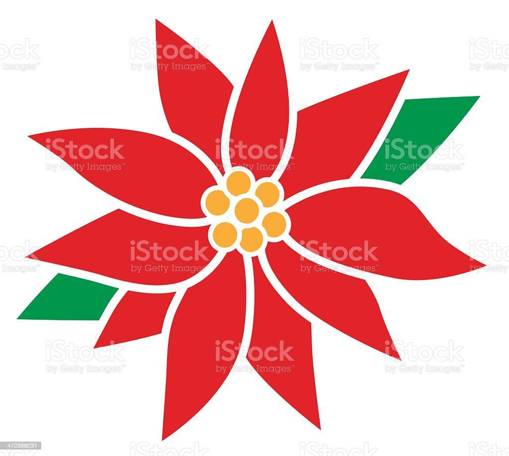 poinsettia flower vector art illustration