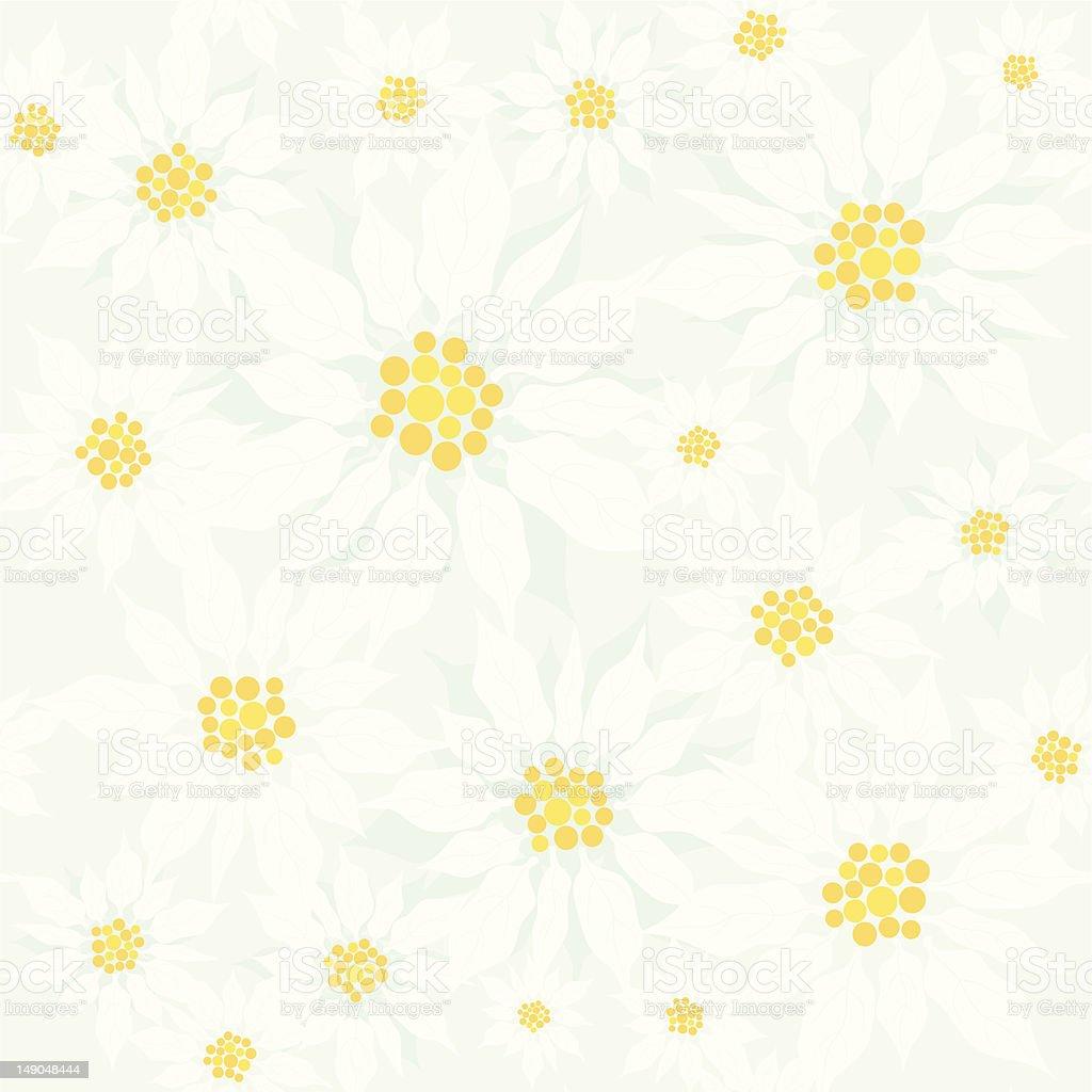 Poinsettia Pattern royalty-free stock vector art
