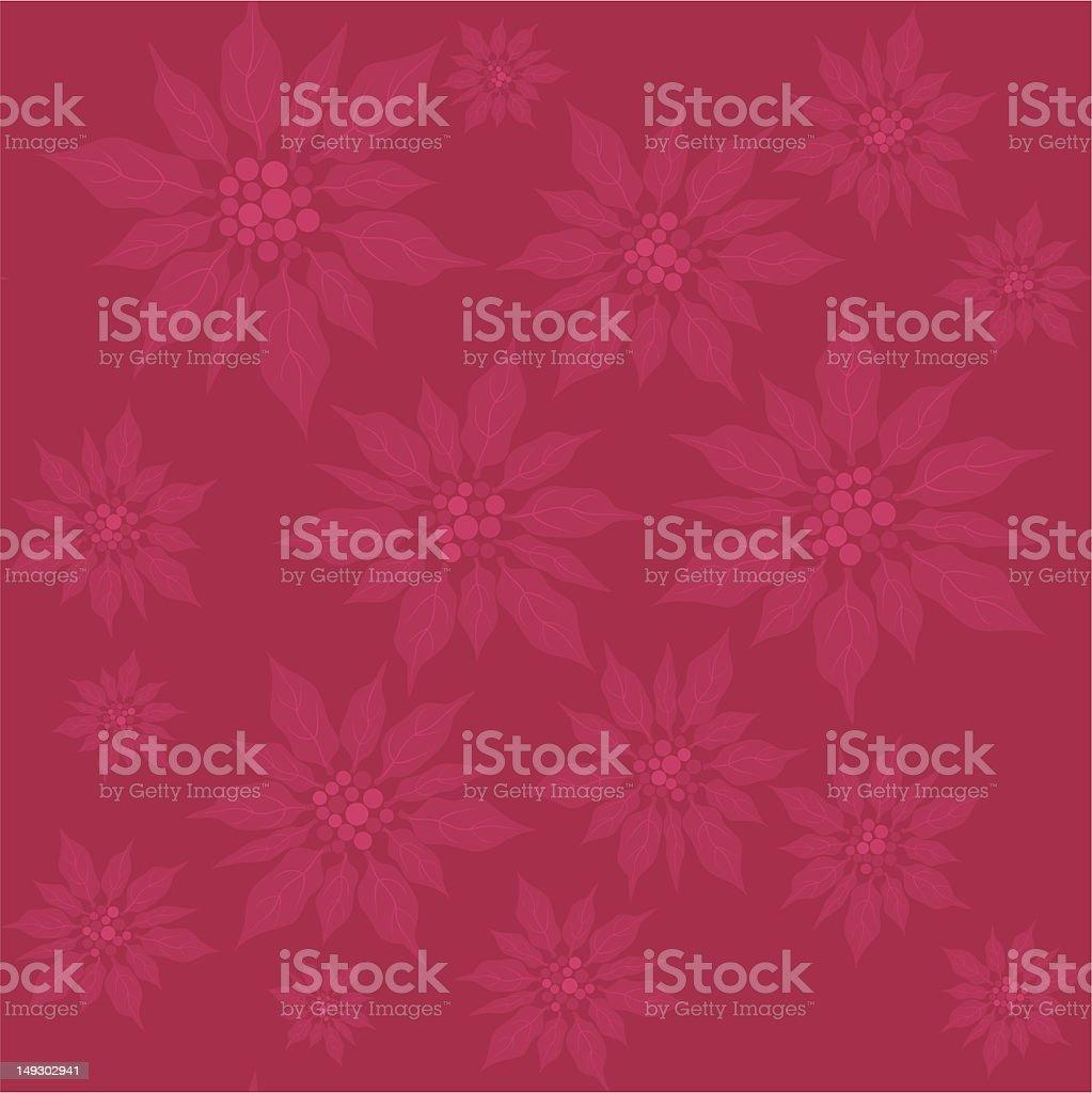 Poinsettia seamless pattern royalty-free stock vector art