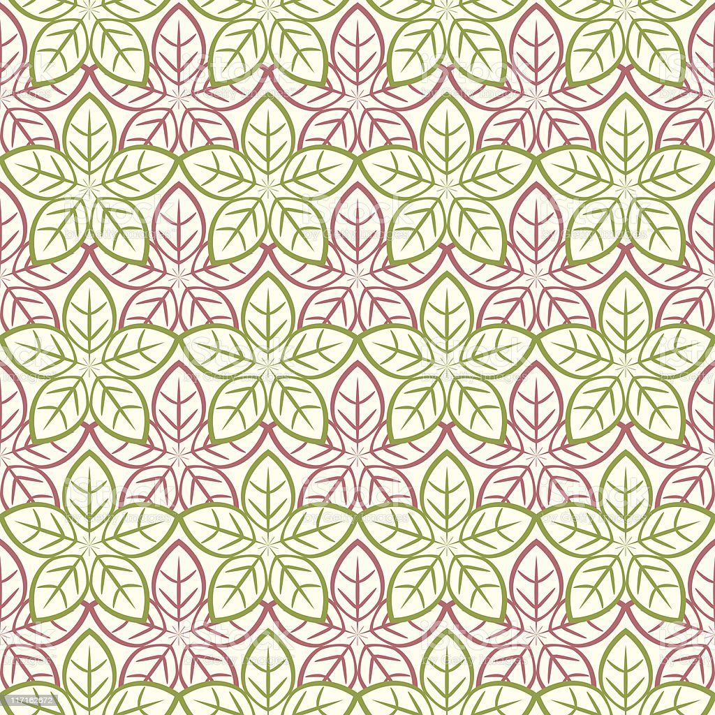 Poinsettia (Seamless) royalty-free stock vector art