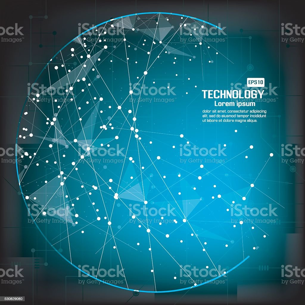 Point and curve constructed the sphere wireframe vector art illustration