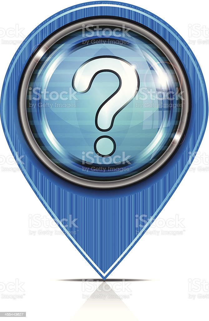 Pointer Icon |  Question Mark royalty-free stock vector art