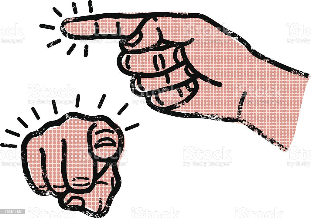 Pointing finger royalty-free stock vector art