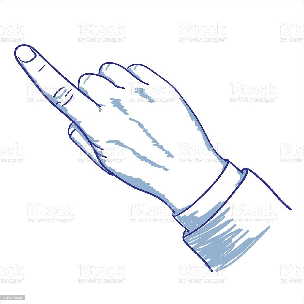 Pointant du doigt stock vecteur libres de droits libre de droits