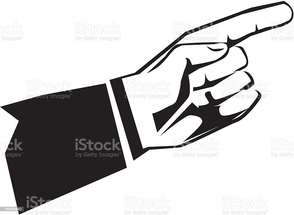 pointing hand accent royalty-free stock vector art
