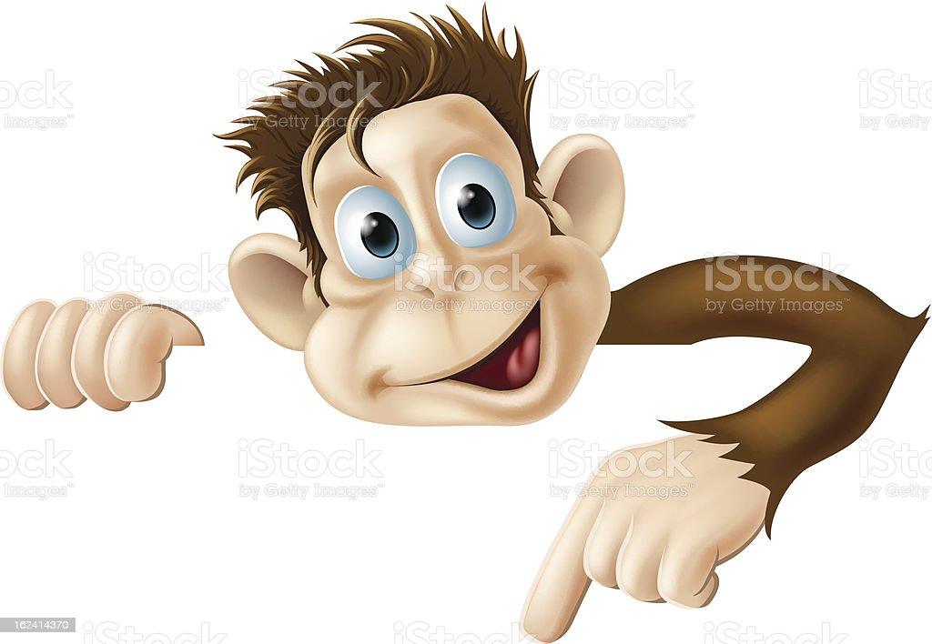 Pointing Monkey royalty-free stock vector art