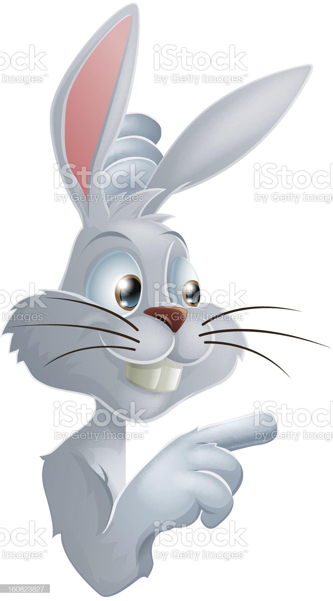 Pointing White Rabbit royalty-free stock vector art