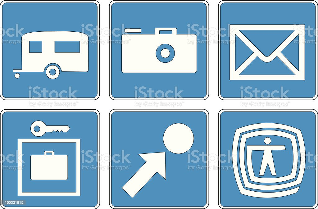 Points of Interest: 3 royalty-free stock vector art