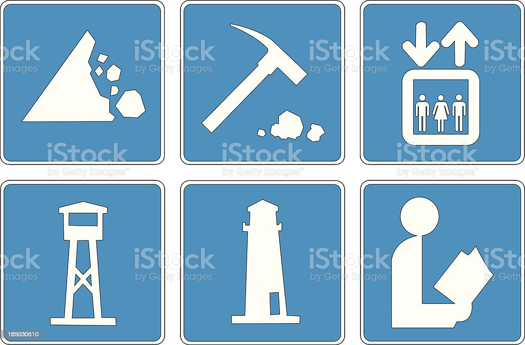 Points of Interest: 4 royalty-free stock vector art