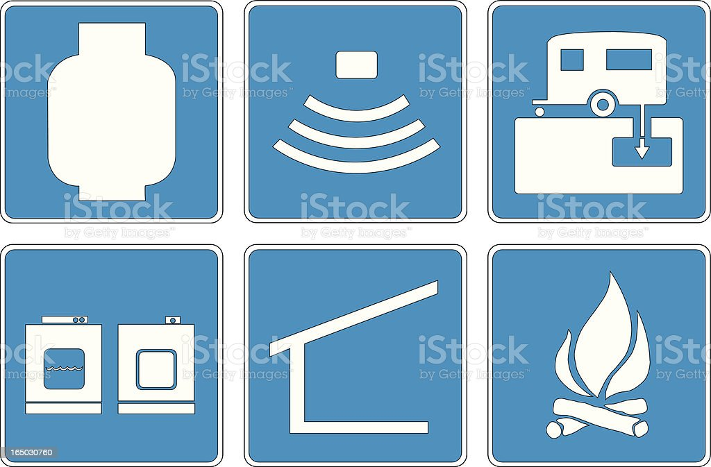 Points of Interest: 6 royalty-free stock vector art