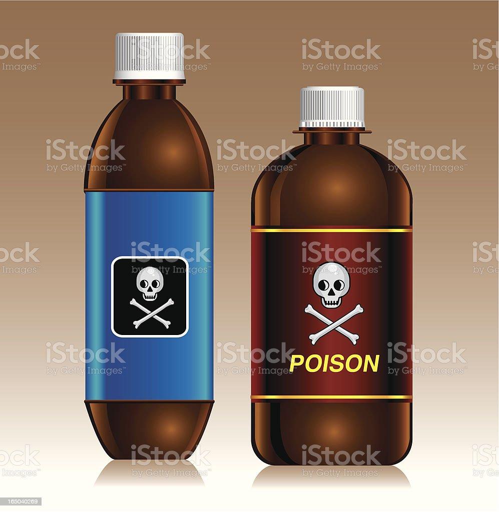 poison bottles royalty-free stock vector art