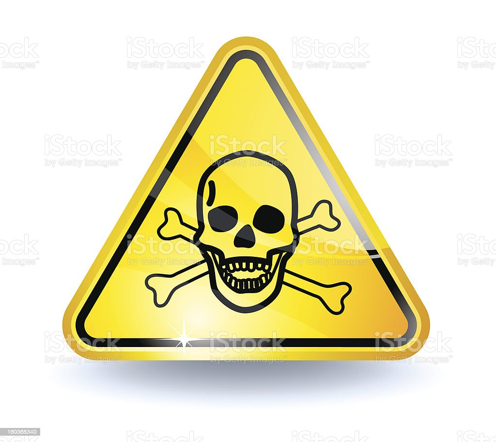 Poison sign royalty-free stock vector art