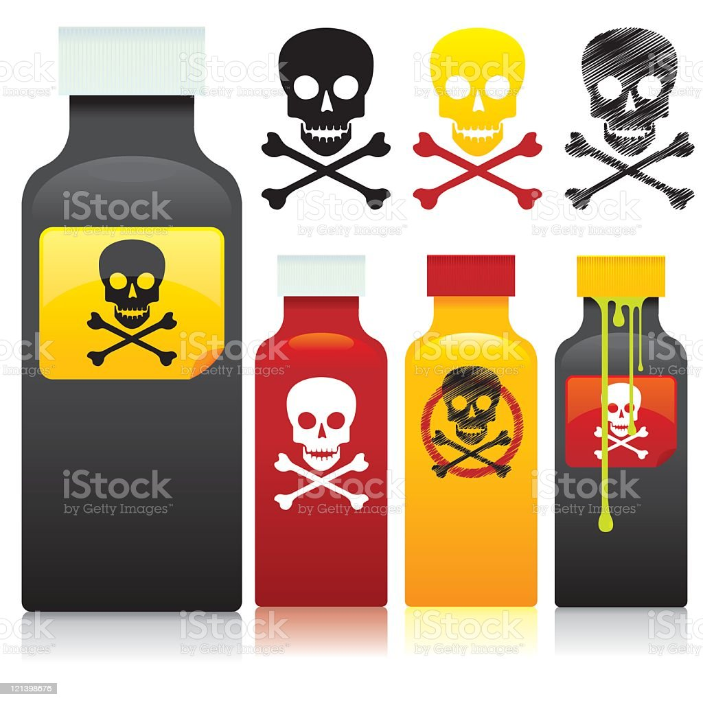 Poison vector art illustration