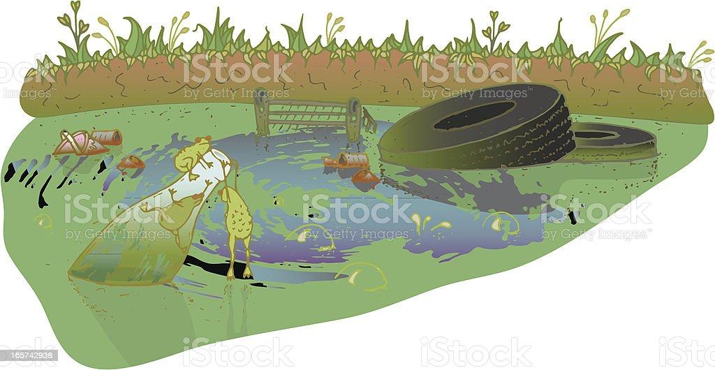 Poisoned Pond vector art illustration