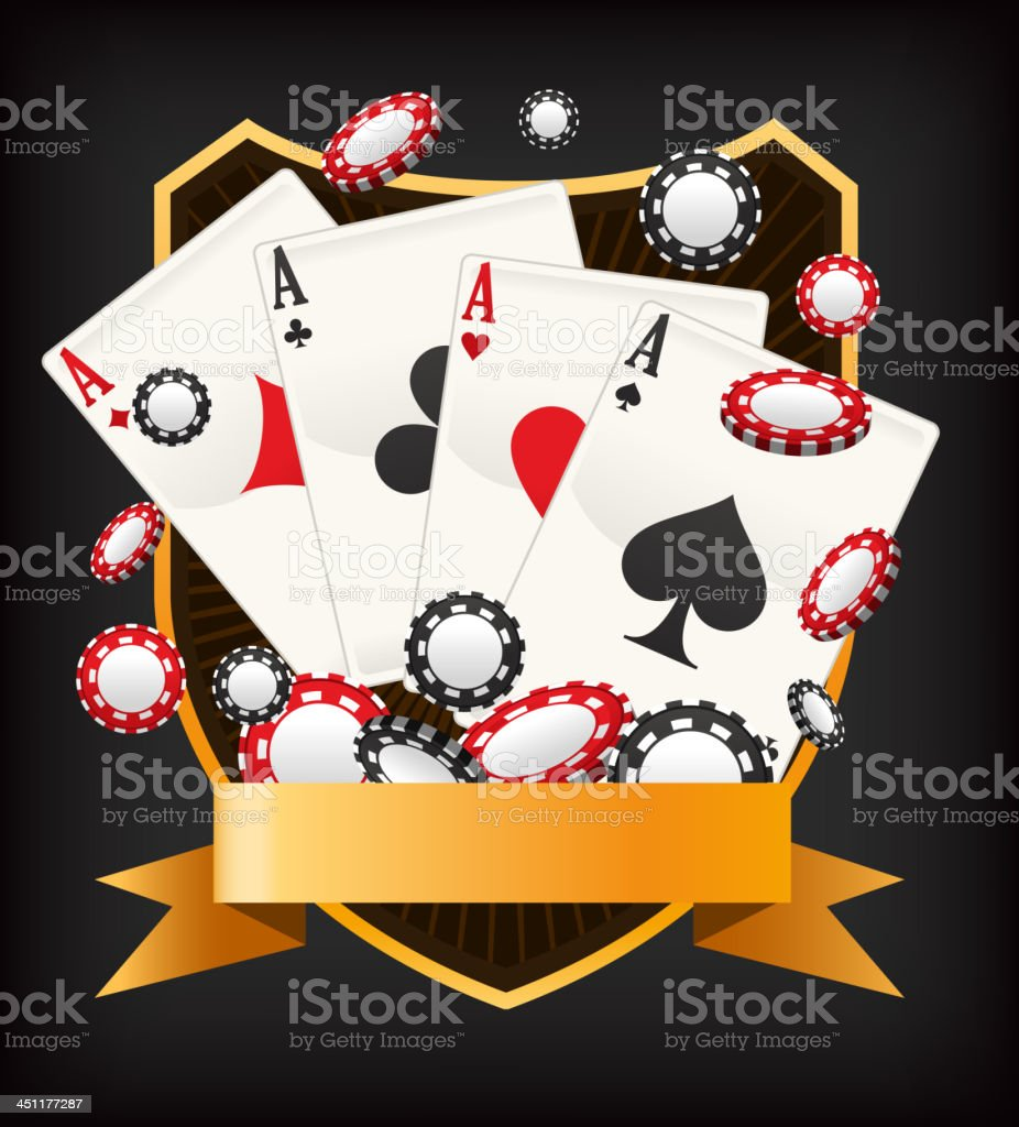 Poker Ace Banner Emblem royalty-free stock vector art