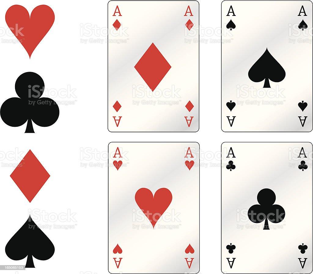 poker aces vector art illustration