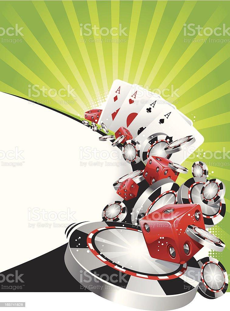 poker background royalty-free stock vector art