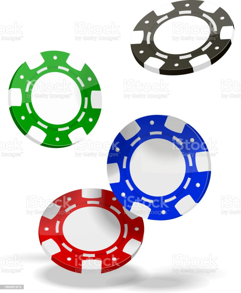 Poker chips vector clipart