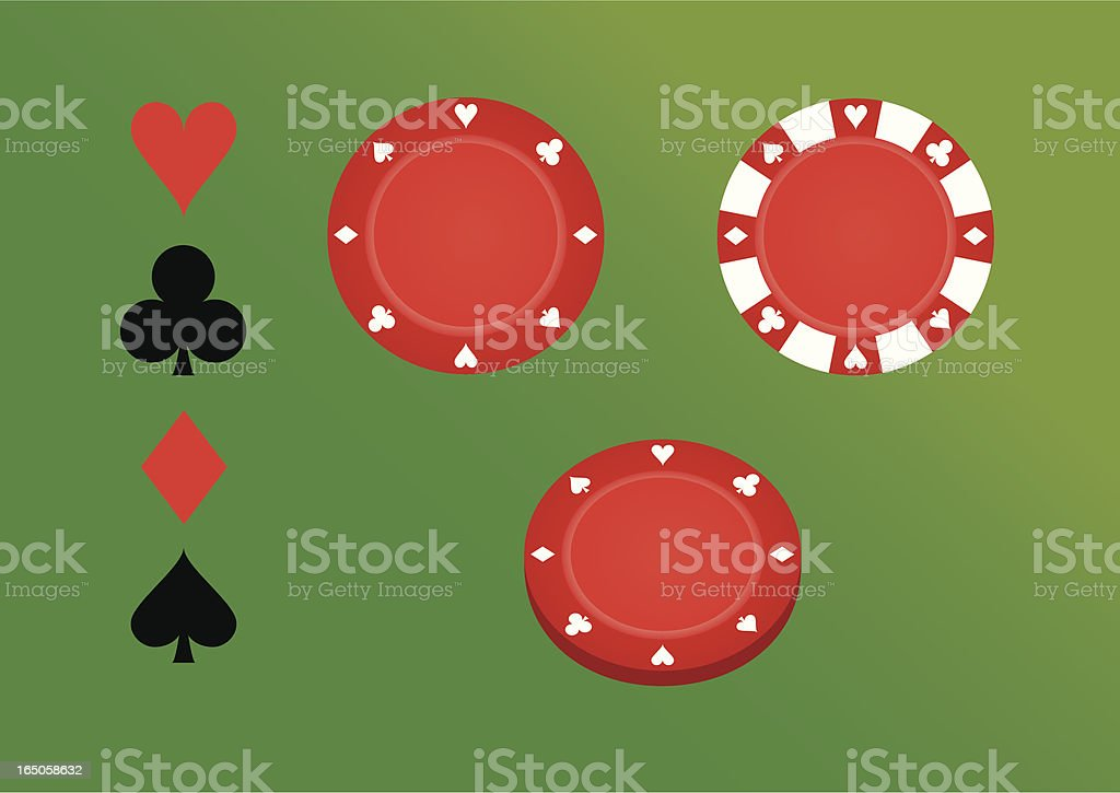 poker chips royalty-free stock vector art