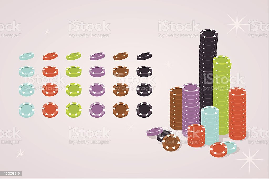 poker chips royalty-free stock vector art
