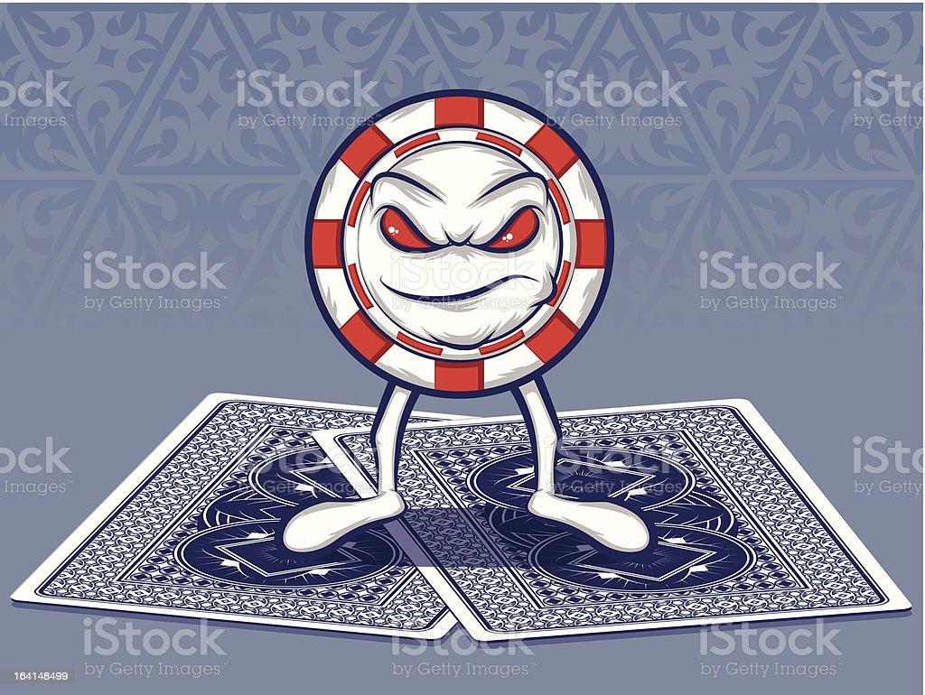Poker Face royalty-free stock vector art