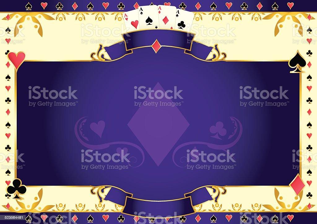 Poker game ace of diamonds horizontal background vector art illustration