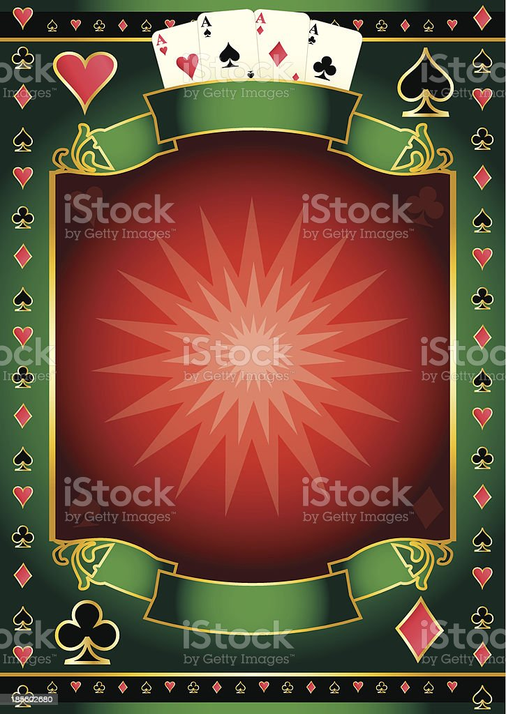 Poker game poster royalty-free stock vector art