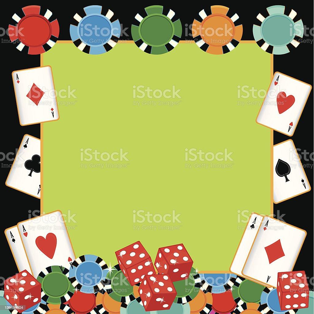 Poker party gambling invitation vector art illustration