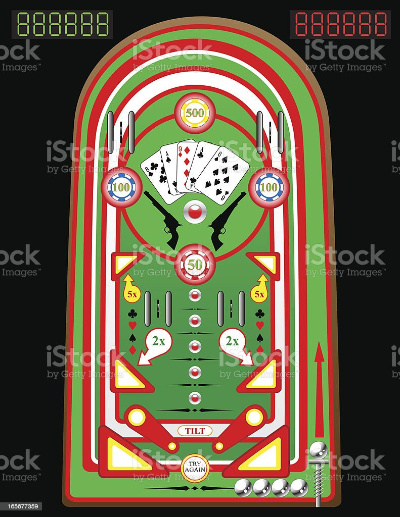 Poker Pinball Playfield royalty-free stock vector art
