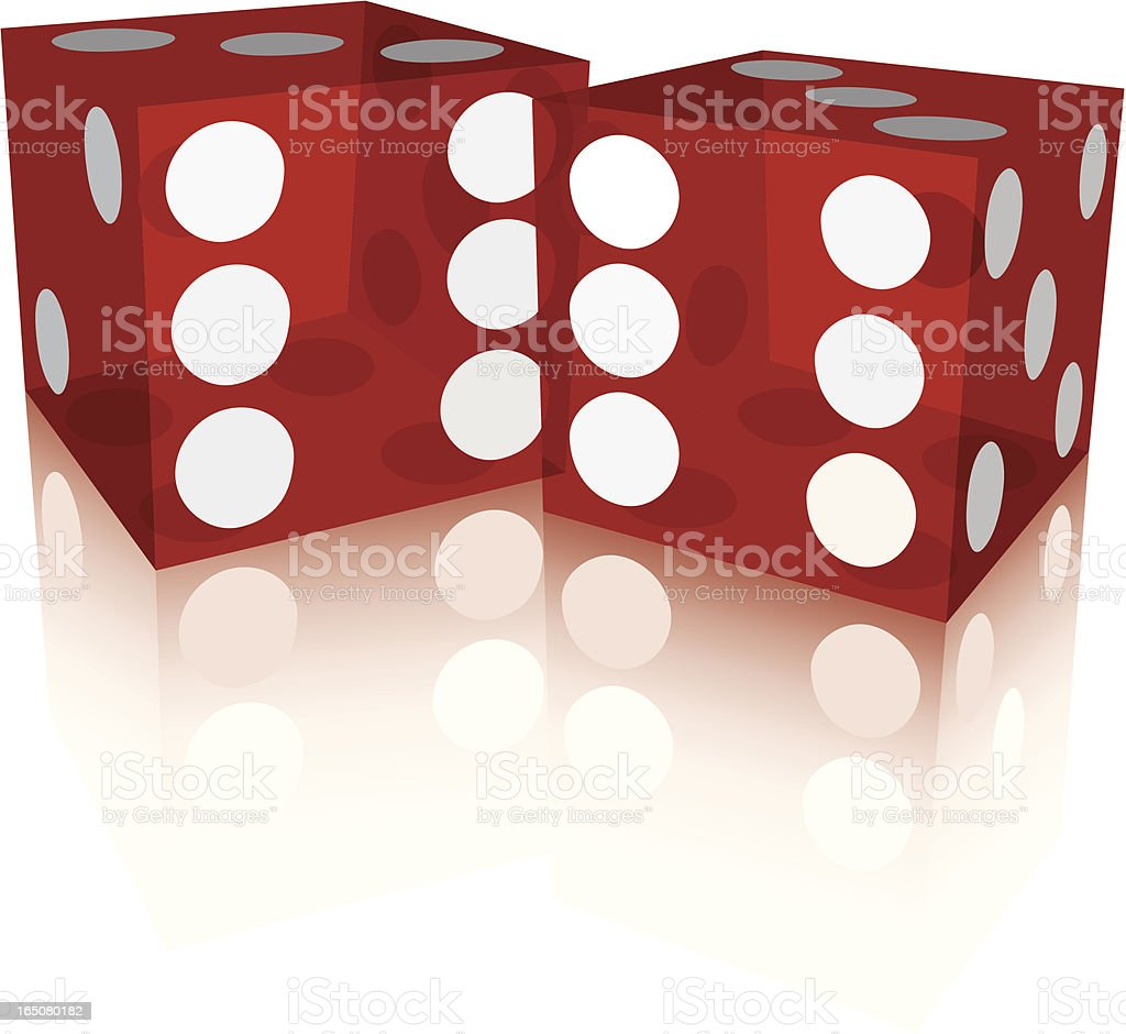 Poker Dice vector art illustration