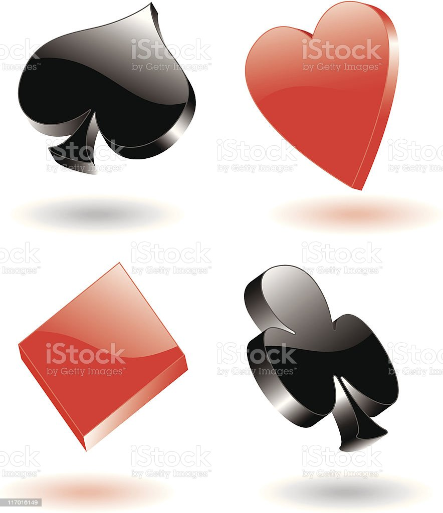 poker signs 3d royalty-free stock vector art