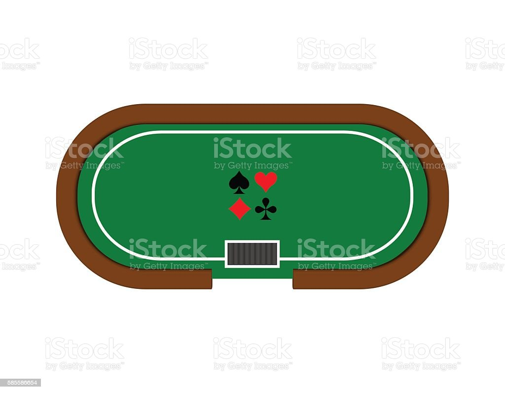 Blackjack table top view - Poker Table 3d Vector Colorful Illustration Top View Royalty Free Stock Vector