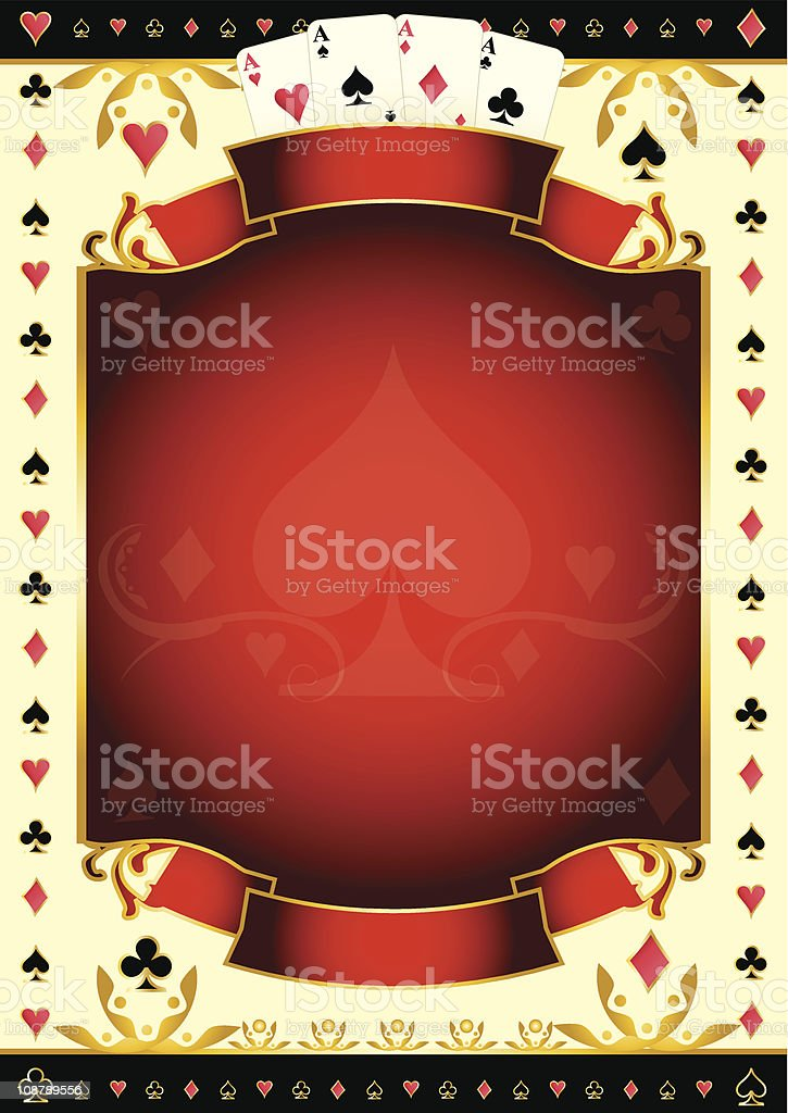 Pokergame background vector art illustration