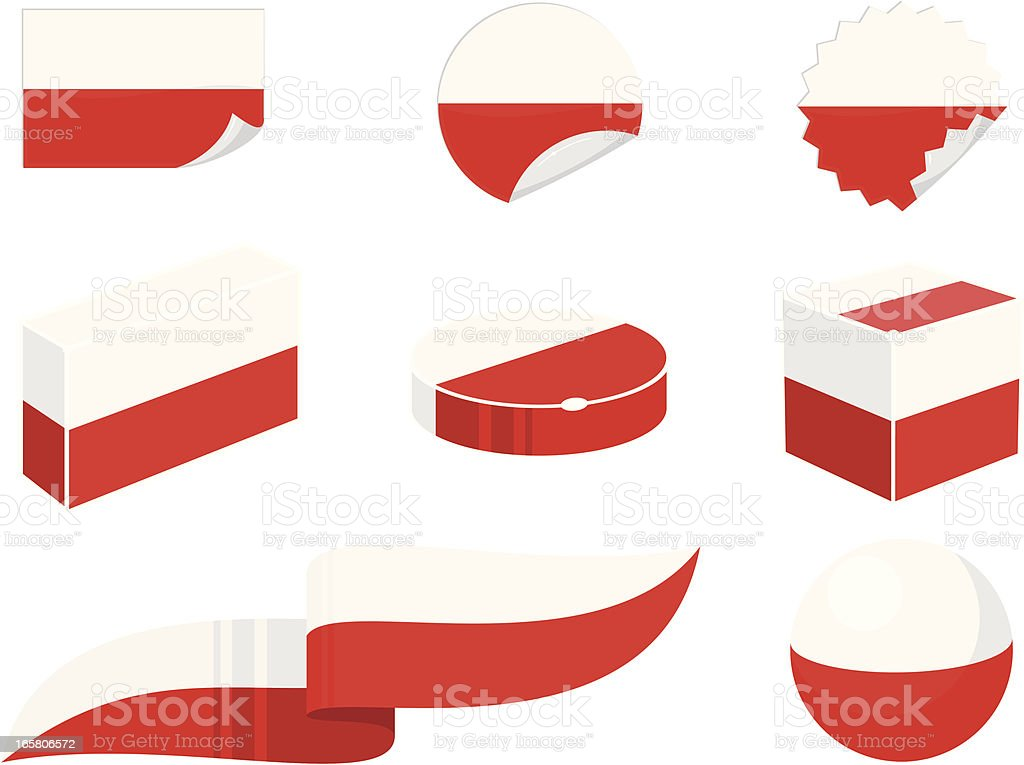 Poland Design Elements vector art illustration