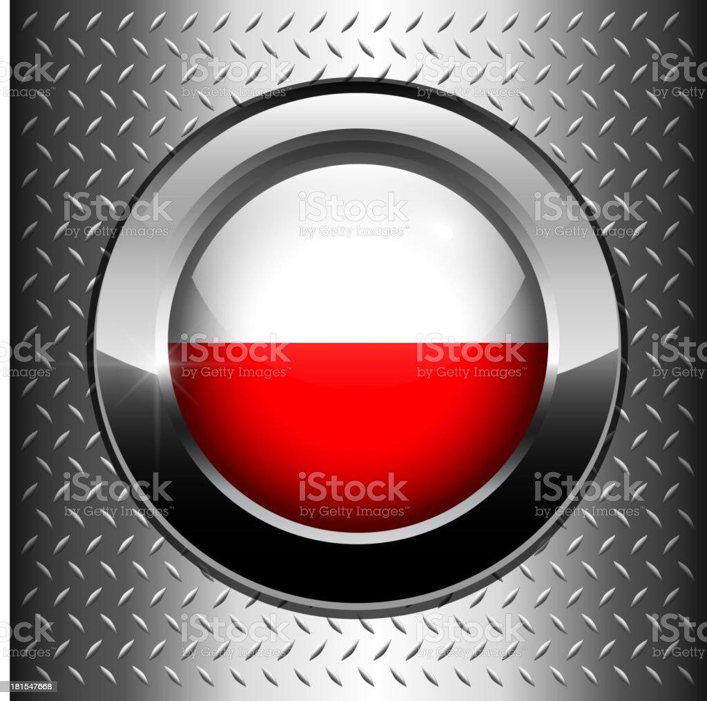 Poland flag button royalty-free stock vector art