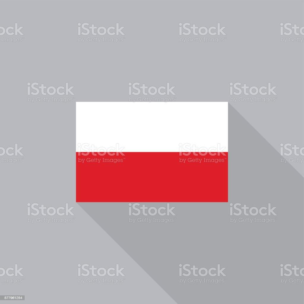 Poland flag flat design vector illustration vector art illustration