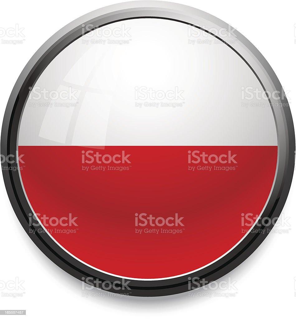 Poland - flag icon royalty-free stock vector art