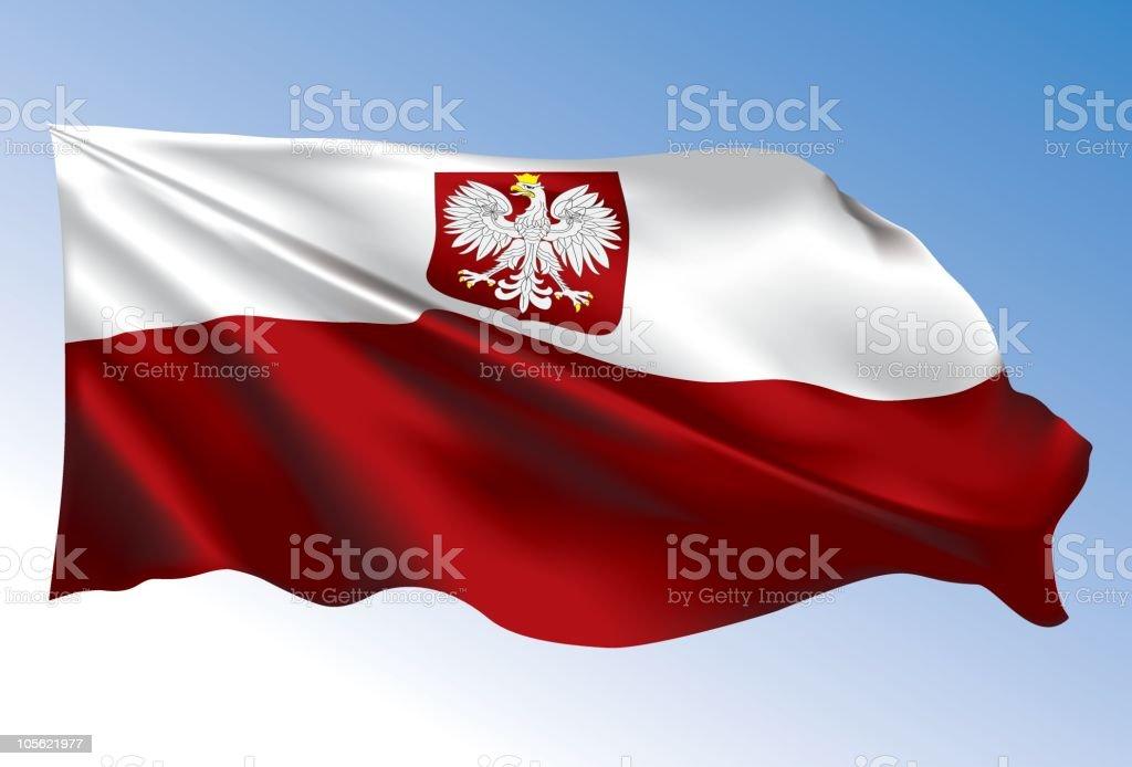 Poland Flag royalty-free stock vector art