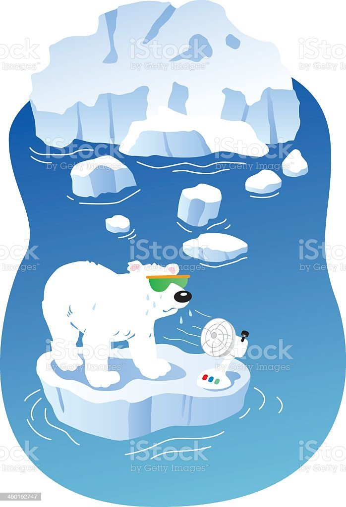 polar bear iceberg royalty-free stock vector art