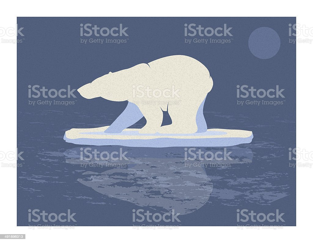 Polar Bear Illustration vector art illustration