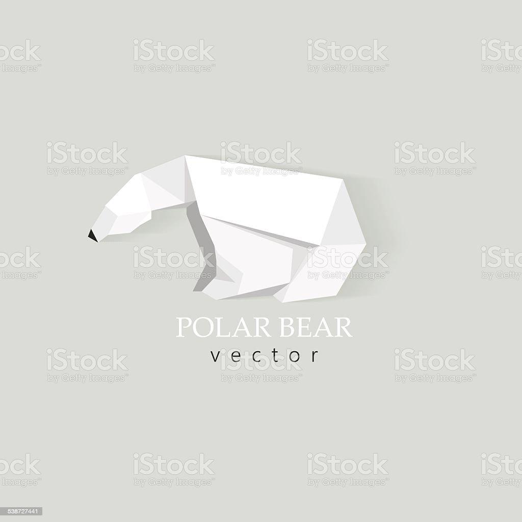 polar bear low polygon style vector design element for business vector art illustration